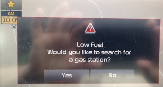 Kia Low Fuel Warning