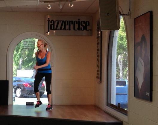 Jazzercise instructor Kristen Penk