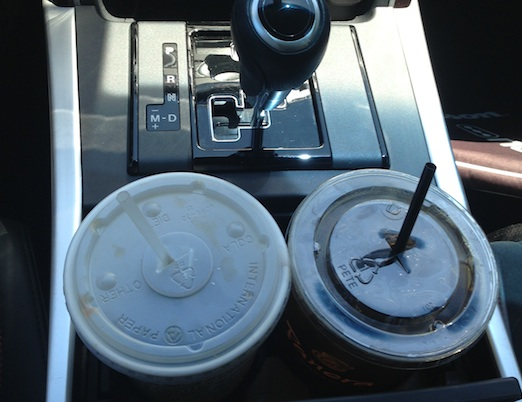 The cup holders in the MazdaCX-9