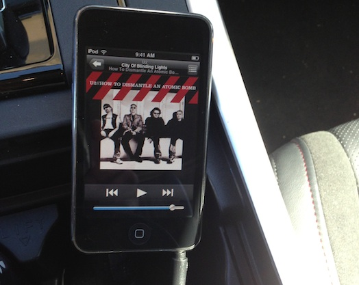 The  iPod dock in the Mazda CX-9
