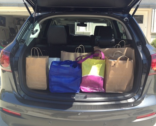 This is the roomy trunk of the Mazda CX-9