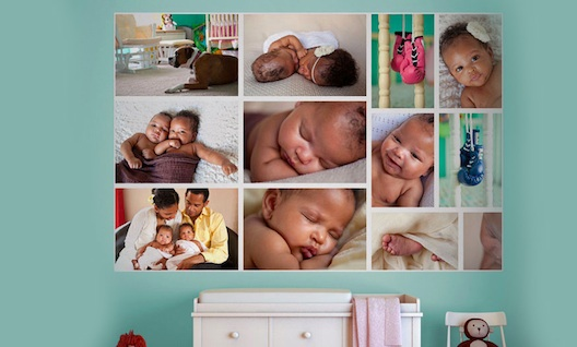 montage of James Oliver's baby pictures from WeMontage