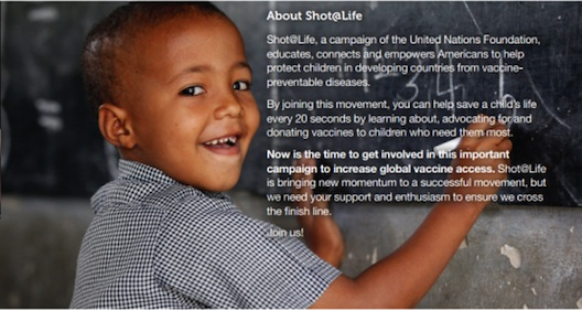 Shot@Life helps provide vaccines for children around the world