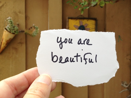 You are beautiful note