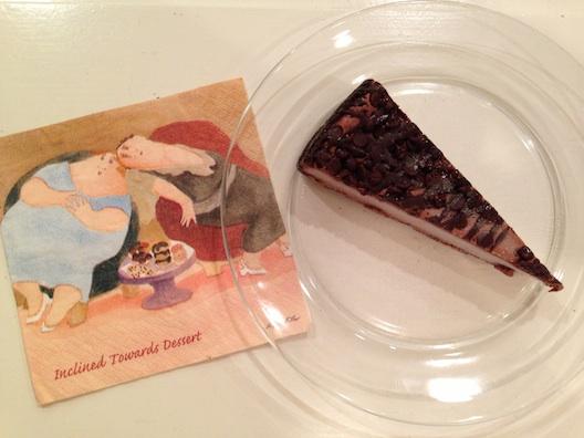 Jenny Craig triple chocolate cheesecake