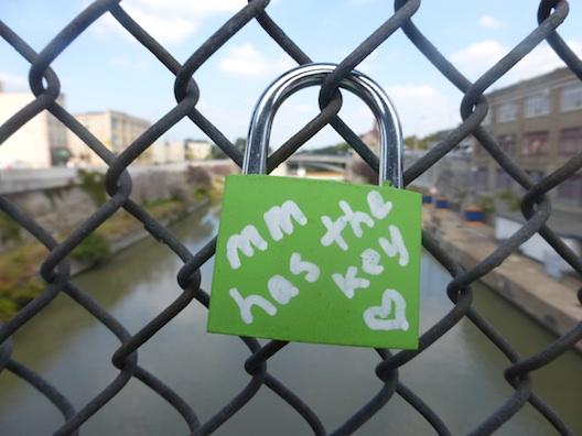 Lock on bridge