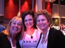 Lois Alter Mark, Cathy Chester, Sheryl Sandberg