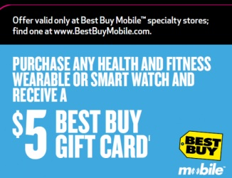 $5 off at Best Buy Mobile Specialty Stores