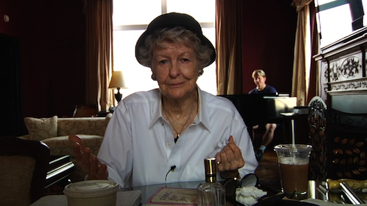 Elaine Stritch sitting