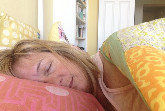 Lois sleeping