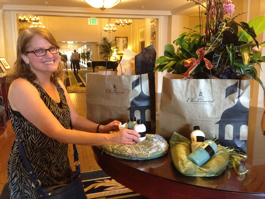 Claremont Hotel goody bags