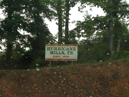 Hurricane Mills sign