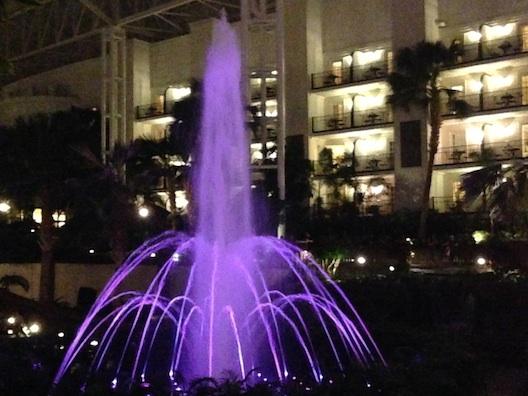 Opryland purple fountain