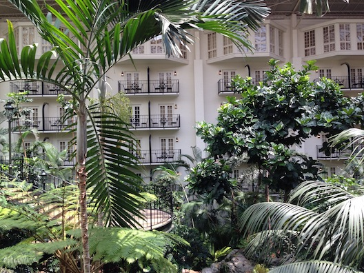 Opryland trees and balconies