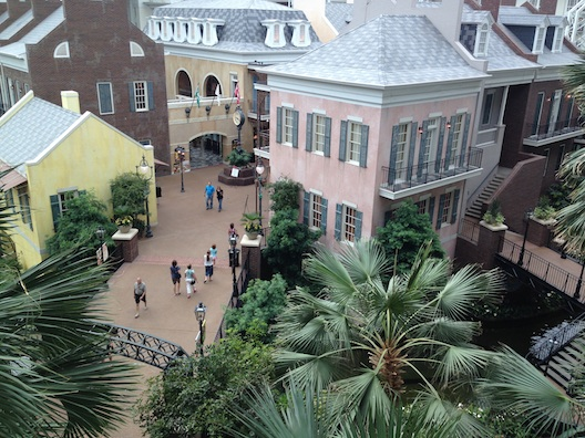 Opryland view from balcony