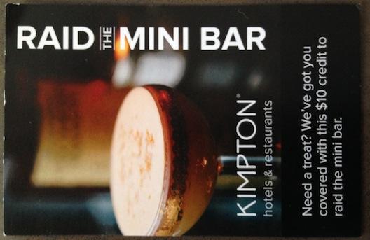 Hotel Monaco raid the mini bar