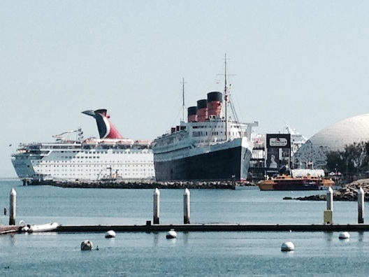 Queen Mary from Hotel Maya