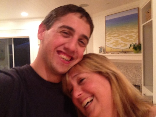 Alex and me laughing
