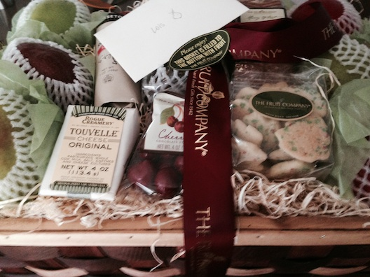 Fruit Company basket with note