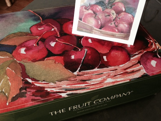 The Fruit Company apple box and card