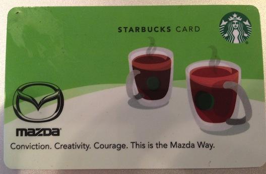 car show - Starbucks card