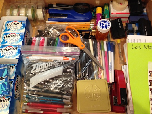 cleaning - junk drawer after