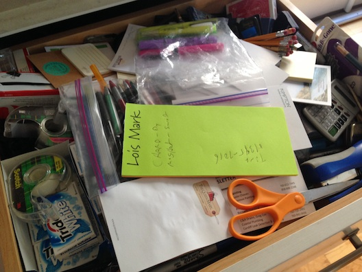 Cleaning - junk drawer before