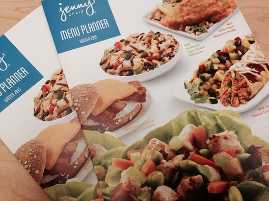 Jenny Craig menus