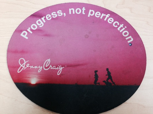 Jenny Craig progress sign