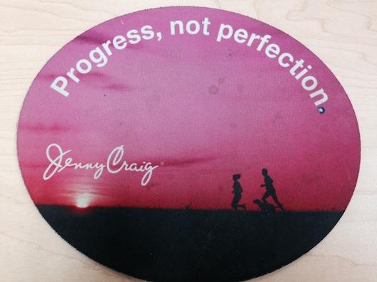 Jenny Craig progress sign