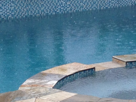 Pool in rain