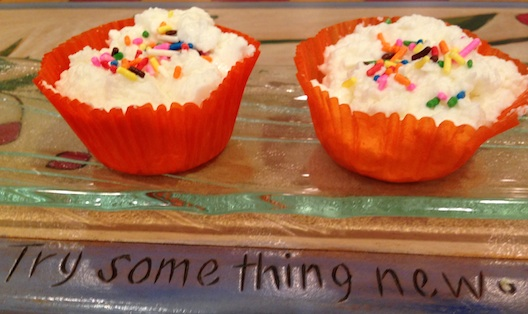 Yoplait Greek 100 Whips! cupcake