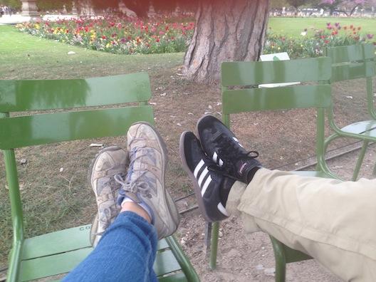 Paris feet up
