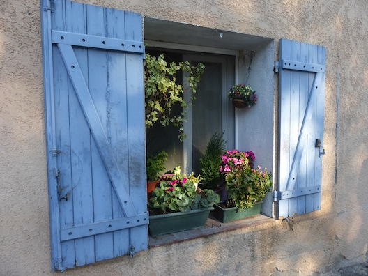 Provence blue shutters