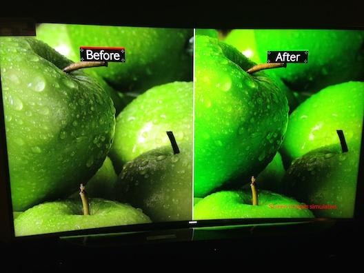 Samsung SUHD TV apples