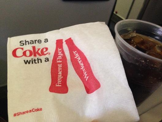 Diet Coke - airplane napkin