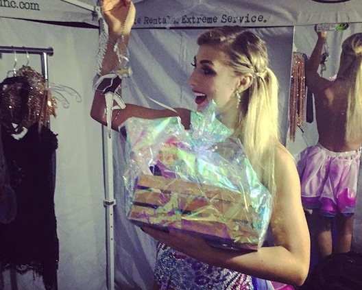 Emma Slater with gift
