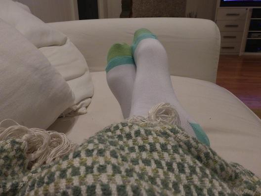 GoldToe socks blanket