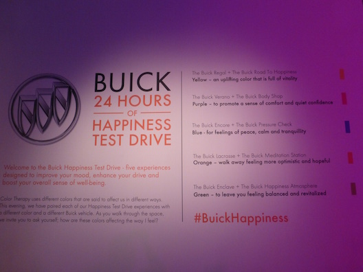 Buick 24 hours of happiness colors