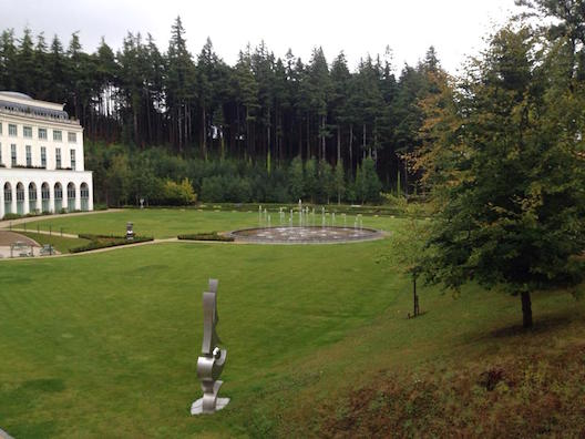 Powerscourt Hotel view from patio