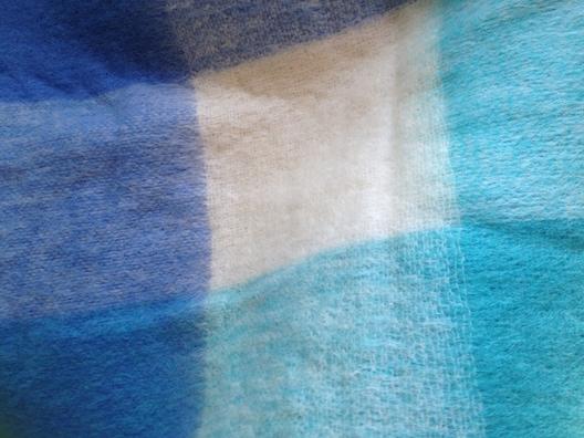 Avoca blue blanket