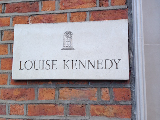 Louise Kennedy sign
