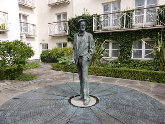 Merrion Hotel James Joyce statue