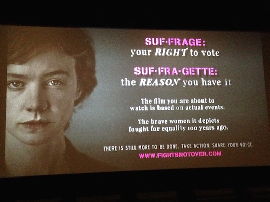 Suffragette screen