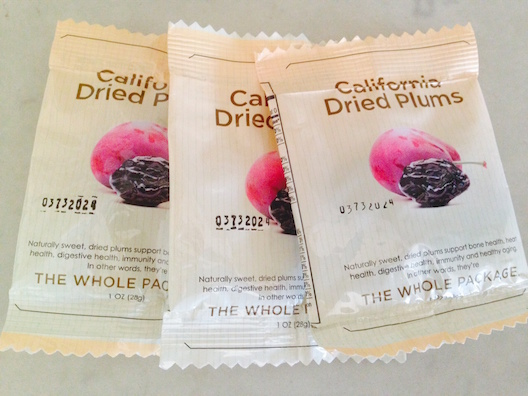 California Dried Plums packages