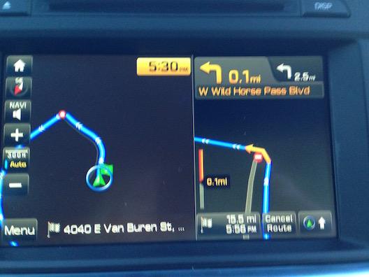Hyundai Sonata navigation