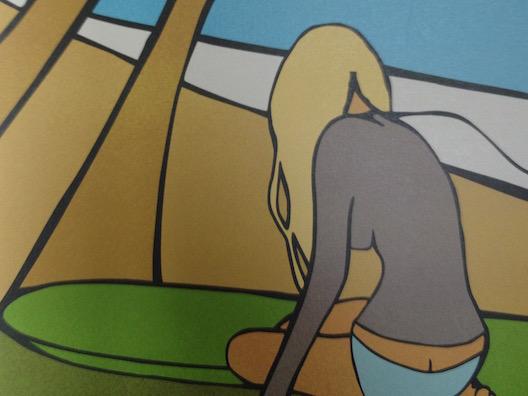 Shorebreak hotel surfer girl art