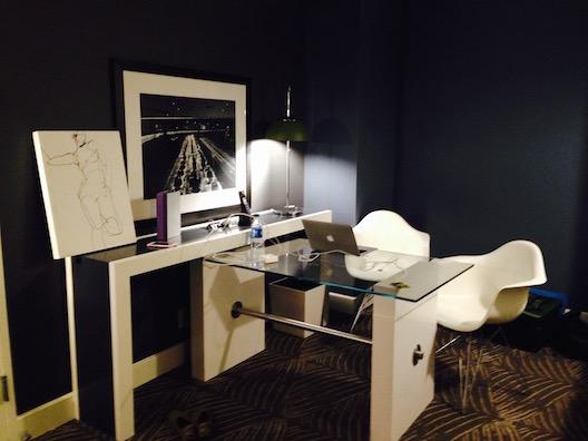 W hotel desk