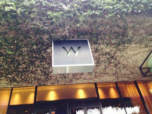 W hotel sign