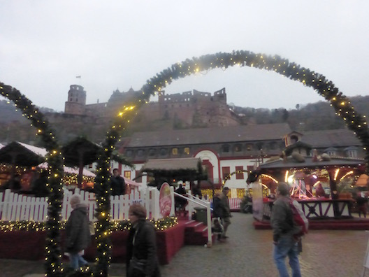 Christmas markets castle